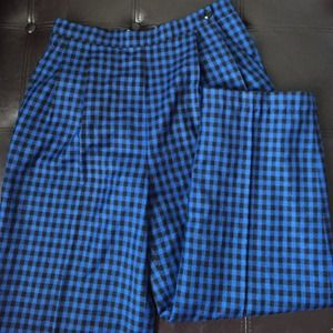 Plaid high waisted trousers