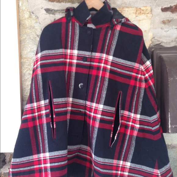 plaid tartan cape from urban outfitters