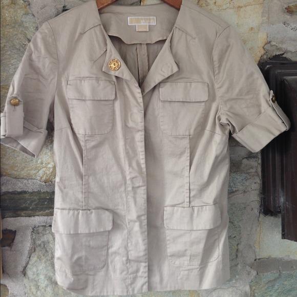Michael Michael Kors military style short sleeve