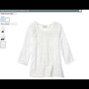Tops - !SOLD! SABINE White Embroidered Top (NWT)