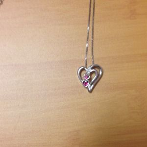 Jewelry - Double heart sterling silver .925 necklace