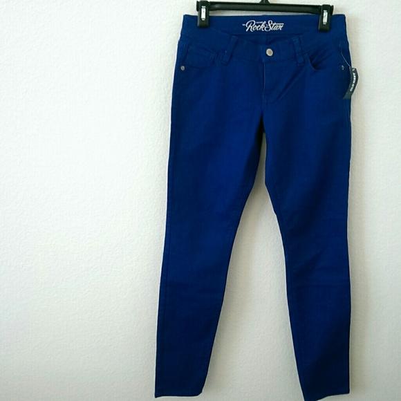 57% off Old Navy Pants - Old Navy Rockstar Royal Blue Skinny Jeans ...