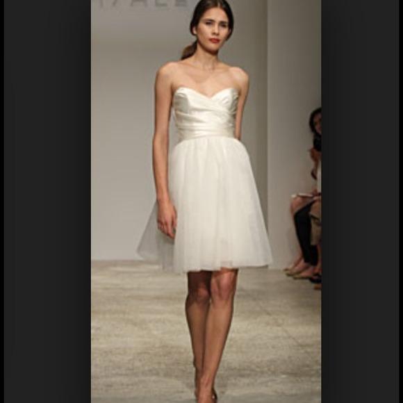 Amsale Dresses Martine Ivory Short Wedding Dress Poshmark