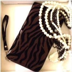 New Animal print Luxe oversized envelope clutch