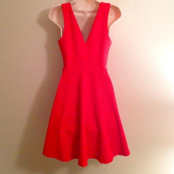 Red dress xs express