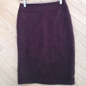 Brand new suede like stretch skirt