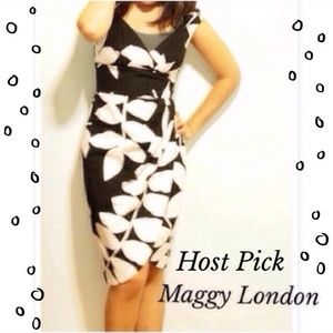 HPMaggy London black and white dress