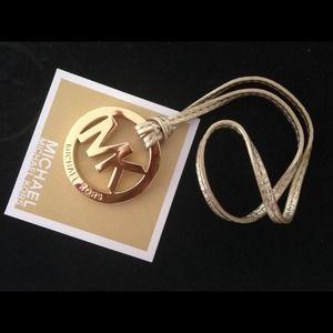 Michael Kors Gold Metal charm Hangtag /Key Fob