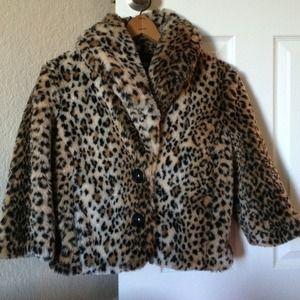 Forever 21 fur leopard coat
