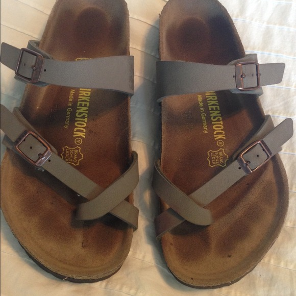 birkenstock mayari stone sandal