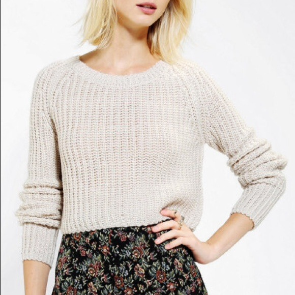 43% off Urban Outfitters Sweaters - Kimchi Blue Shaker Cropped ...