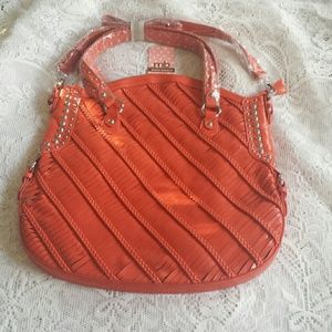 Melie Bianco Karen Orange Handbag Purse