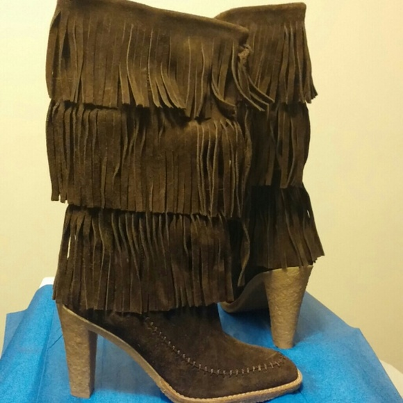 Michael Kors Suede Fringe Boots   Poshmark