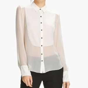 Elizabeth and James Ivory Charlie Tux Shirt L NWT
