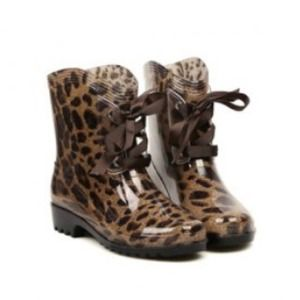 leopard print rain boots on Poshmark