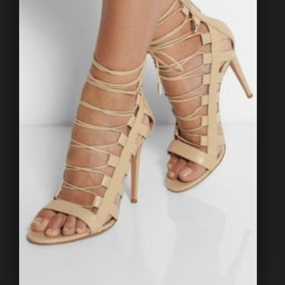 38% off Charlotte Russe Shoes - Nude Taupe lace up gladiator