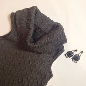 Forever 21 Dresses & Skirts - Gray Cowl Neck Sweater Dress