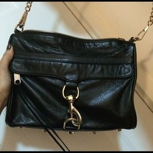 $200 Rebecca Minkoff black MAC bag