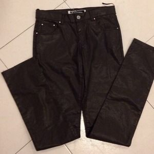 Brand new leather stretch pants