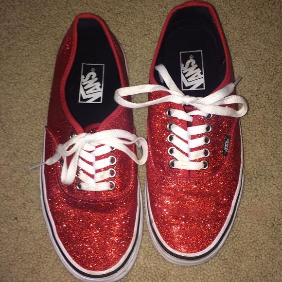 69d8115e1e41 Custom Red Sparkly Vans. M_5472b53f4a581e48d1163c55