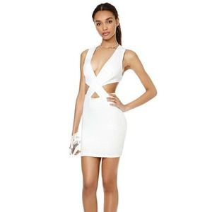 Cut it Out White Dress by Nasty Gal