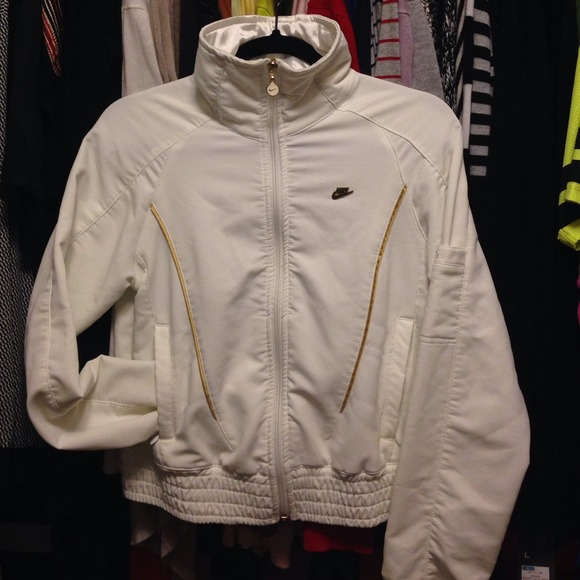 nike jacket gold