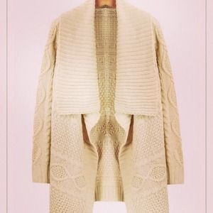 Outerwear - Ivory cable cardigan