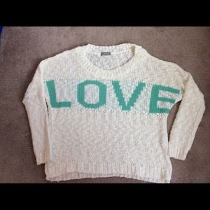 Love sweater size small