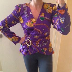 Vintage 100% silk blazer/jacket - 4 - Rimini