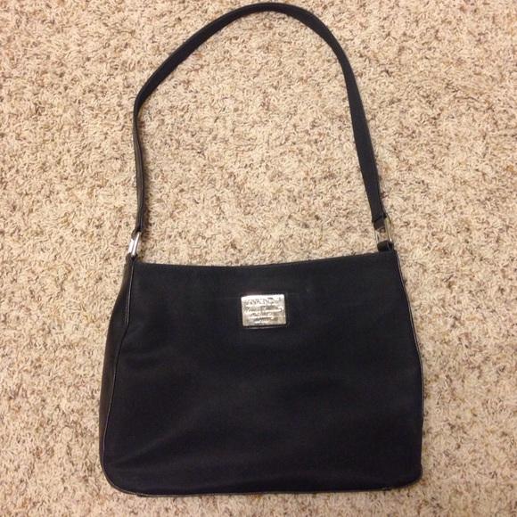79 off dkny handbags dkny classic black nylon purse