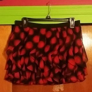 Red and black skirt worn once