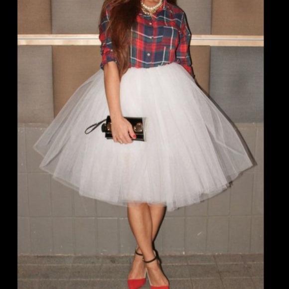 d1f7f38820 Dresses & Skirts - NEW Gorgeous White Tulle Skirt❤ 🎉