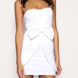 ASOS White Bow Dress