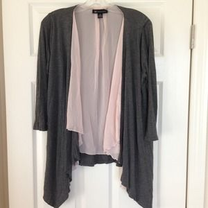 Sold--Pink and grey cardigan