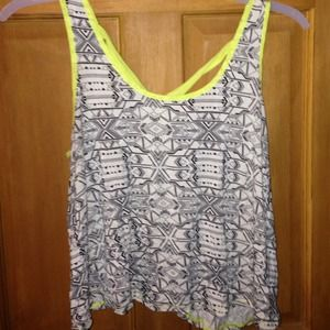 tribal crop top with neon