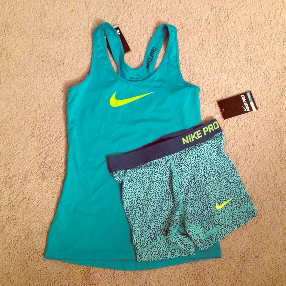 8% off Nike Outerwear - Nike Pro outfit.. Shorts u0026 tank in Small from Dazzzzleu0026#39;s closet on Poshmark