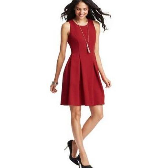 loft dresses. LOFT Dresses - Gorgeous Red Holiday Dress Loft Size 2