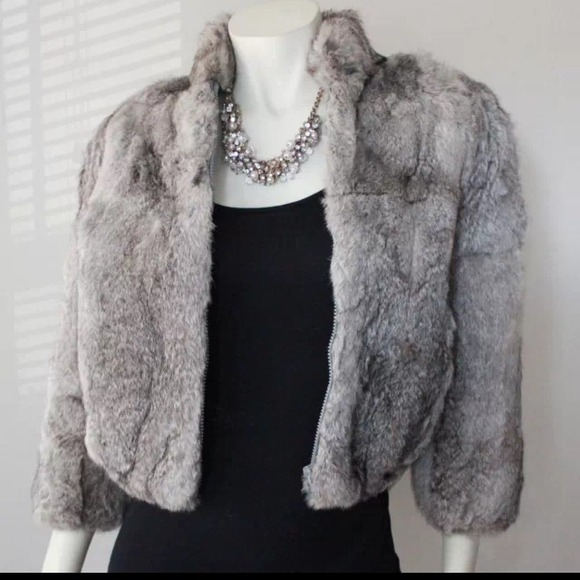 Princess Caravelle - Princess Caravelle Rabbit Real Fur Coat from