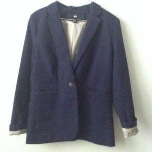 H&M blazer (navy blue)