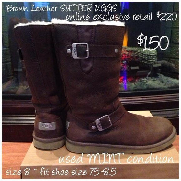 a6b6216f6a6 Leather WATER RESISTANT UGGS! 💯Authentic