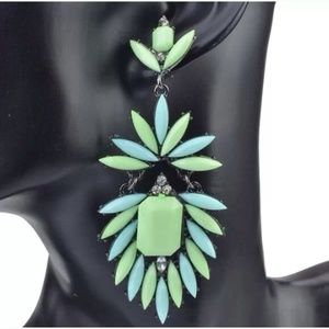 Beautiful statement earrings. Turquoise color. New