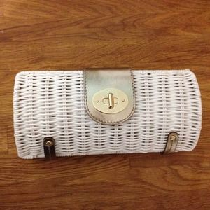 Kate Spade ULTRA RARE White Wicker Clutch