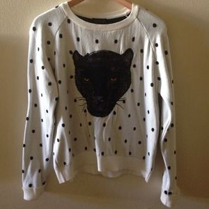 Topshop Sweaters - NEW TOPSHOP Panther Polka dot Sweater
