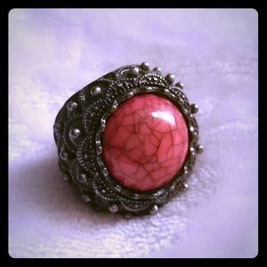 Accessories - Oversized coral ring 8