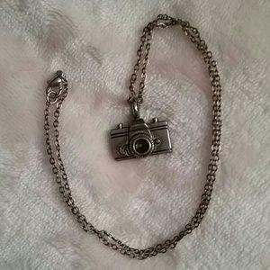 Accessories - Silver camera necklace