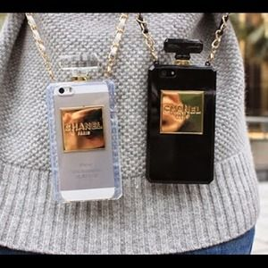 Accessories   Chanel Black Leather Quilted Iphone 6 Wallet ...