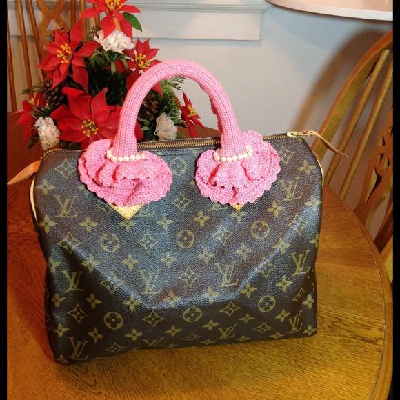 088d934ae44b Handmade Accessories - Crochet handle cover Louis Vuitton speedy alma