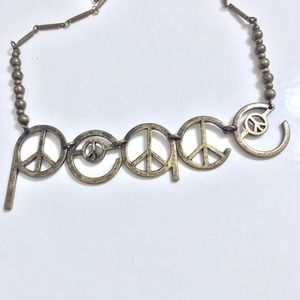 Jewelry - Antique Look Peace Necklace