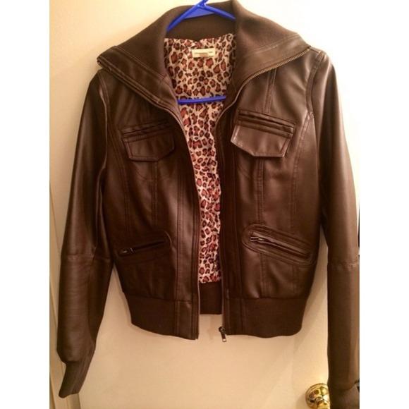 17% off Zenana Outfitters Jackets u0026 Blazers - Zenana Outfitters Leather Leopard Print Jacket ...