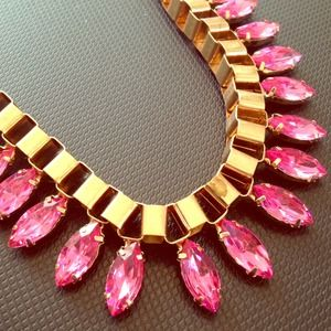 Jewelry - Super Glam! Pink & Gold Statement  Necklace